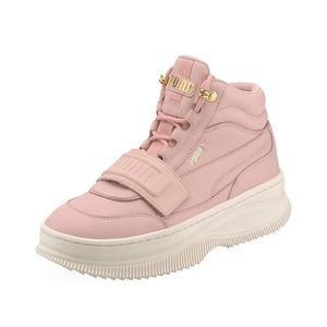 Puma Deva High Top Leather Sneakers  Sneakers 11